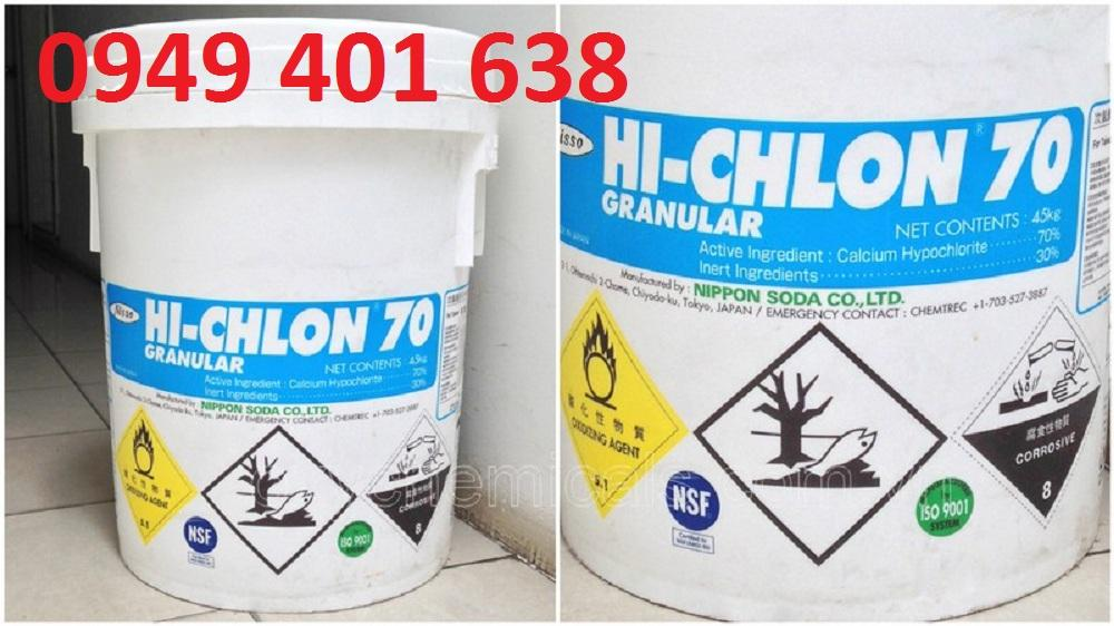Clorin Ca(OCl)2 70% 2kg nhật bản