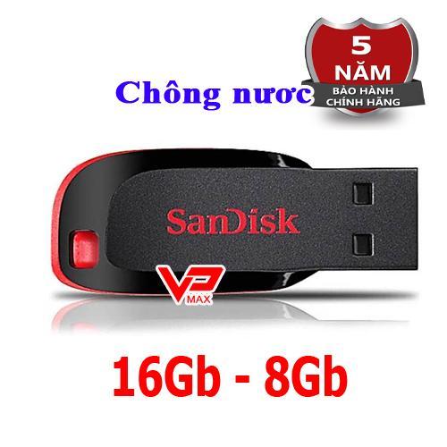 Usb 16Gb 8Gb Sandisk Cz50 bh 5 năm