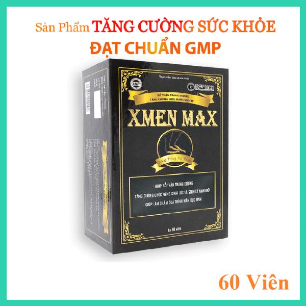 [Chính Hãng] XMEN MAX-Bổ thận tráng dương, Cải thiện chức năng Sinh Lý Nam, Bồi bổ sức khỏe Nam giới, Cải thiện tình trạng suy nhược cơ thể, sức đề kháng, Làm chậm quá trình mãn dục (Hộp 60 viên) cao cấp