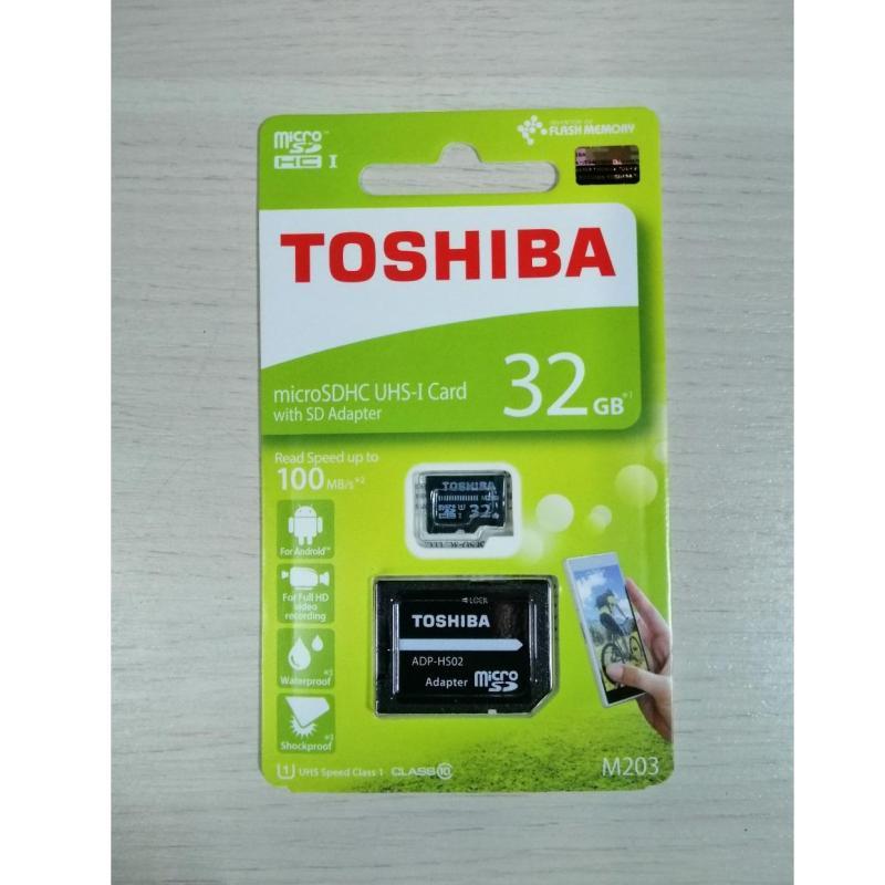 Thẻ nhớ MicroSDHC Toshiba M203 UHS-I Card 32GB 100MB/s + SD Adapter + Tặng giá đỡ hình gấu