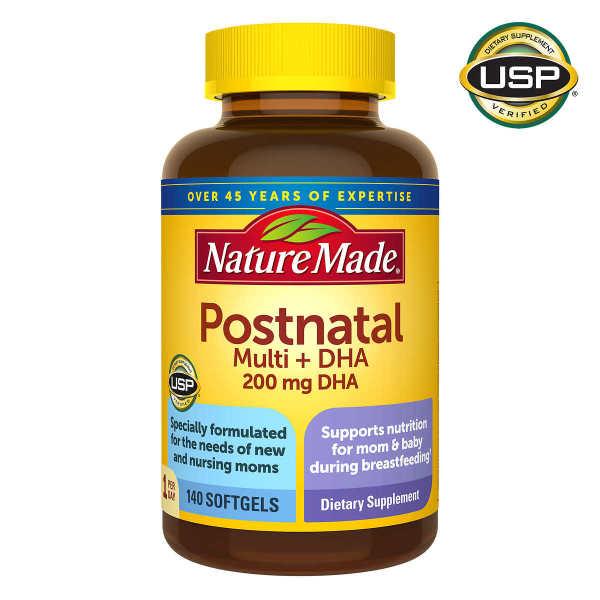 Viên bổ sung Vitamin sau sinh cho bà mẹ Nature Made Postnatal Multi+DHA, 140v