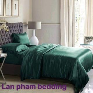 Ga - Drap Giường Lẻ Phi Lụa Lan Pham Bedding - Màu Xanh Cổ Vịt thumbnail