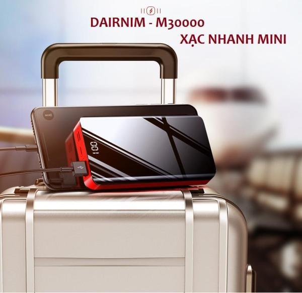Sạc dự phòng Dairnim 30000mAh sang trọng-giá rẻ xạc được nhiều dòng mày, có hỗ trợ xạc nhanh 2A