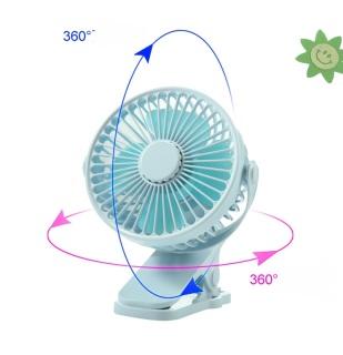 Quạt tích điện kẹp bàn Clip Fan 2 tốc độ kèm đèn ngủ xoay 360 độ, quạt mini mùa hè siêu mát, quạt văn phòng dễ dàng để bàn làm việc hoặc mang theo du lịch thumbnail