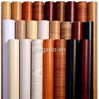 Giấy dán giả gỗ, giấy vân gỗ có keo sẵn dán bàn ghế tủ [G11-2001] thumbnail