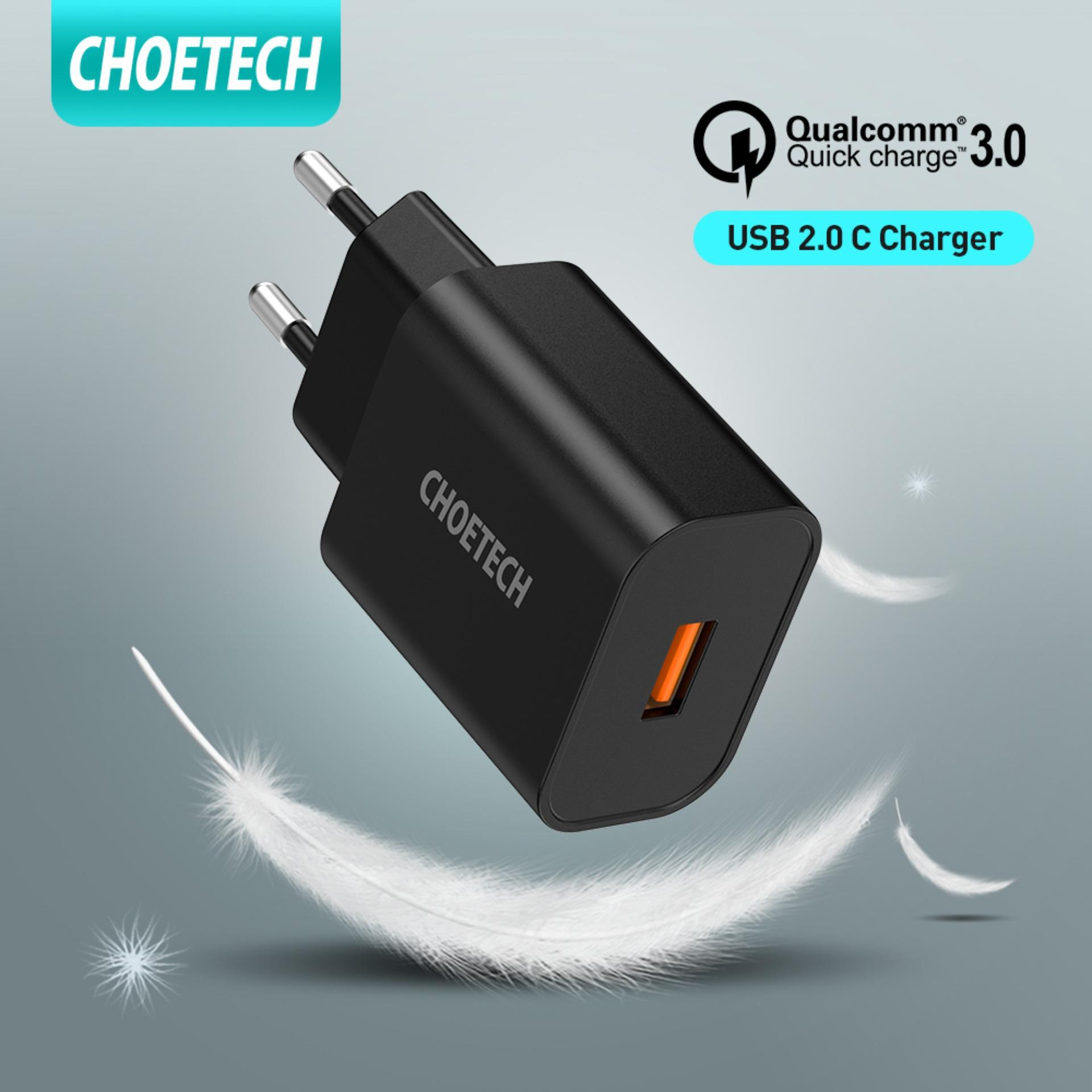 Giá CHOETECH điện thoại Wall ChargerQuick Charge 3.0 Wall Charger, 18W USB C Wall Charger Fast Charging for Samsung Galaxy Note 10,S10, Note 9, S9, Note 8, S8, S7 and iPhone, iPad, LG, Sony, HTC, Huawei etc