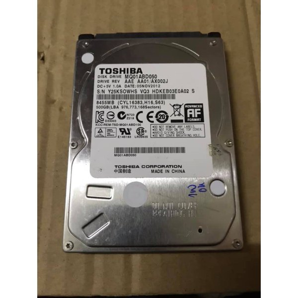 Bảng giá Ổ cứng laptop HDD 500GB hàng tháo máy . Phong Vũ