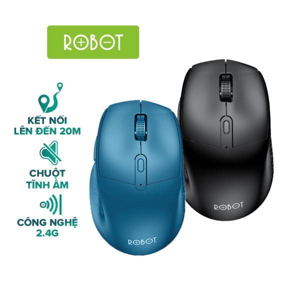 Bảng giá Chuột Không Dây ROBOT M320 2.4GHz chuột tỉnh âm click không nghe tiếng khoảng cách tín hiệu 20m - HÀNG CHÍNH HÃNG Phong Vũ