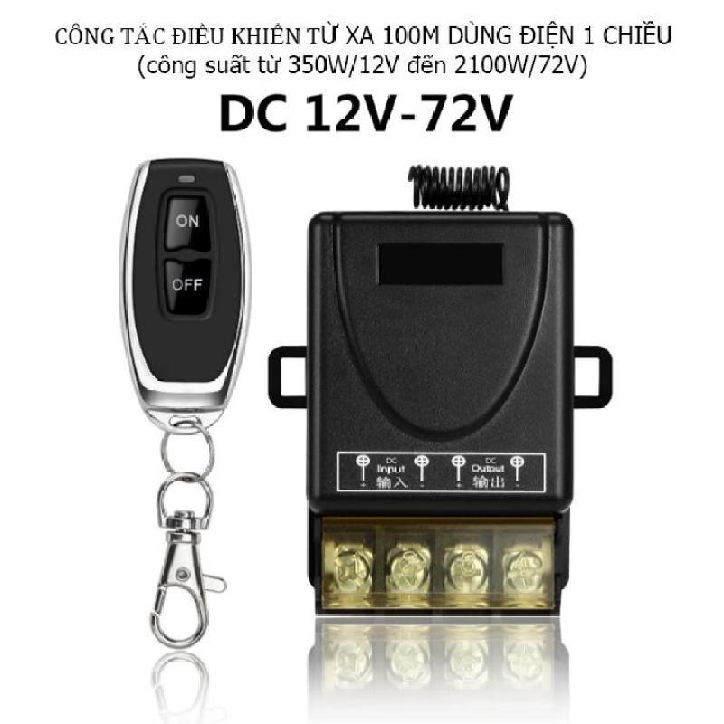 Công tắc điều khiển từ xa 100m cho dòng điện 1 chiều 12V:72V  công suất 350W đến 2100W