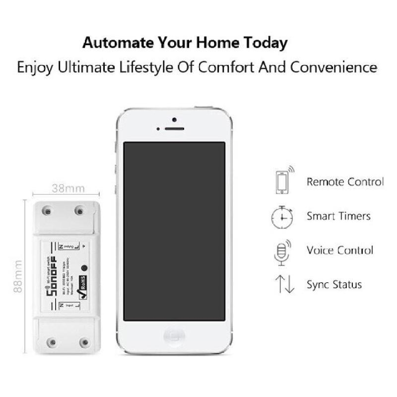 [ Quá Khủng SIêu tiên lợi ] Tên sản phẩm : Thiết bị điều khiển thông minh (Sonoff  Basic Wifi smart Switch).