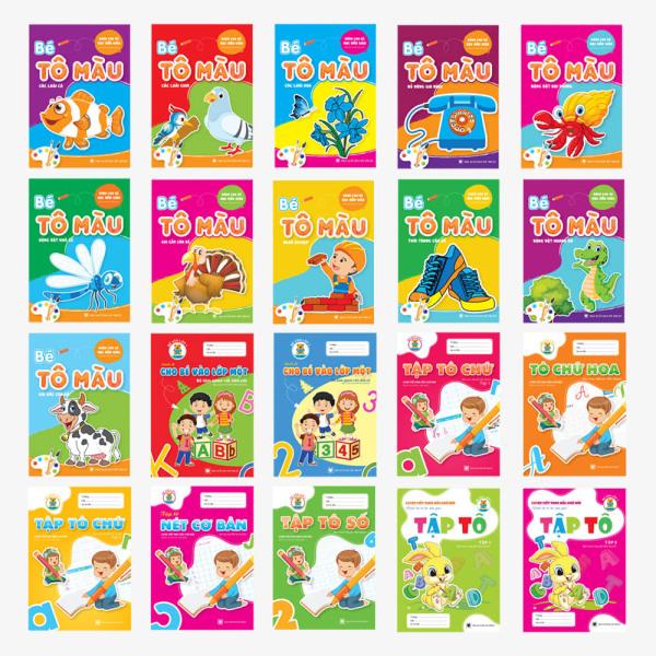 Mua Combo 20 cuốn - Bé Tô màu - Luyện chữ (Mầm non - Chuẩn bị vào lớp 1)