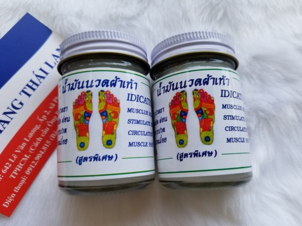 [HCM]Combo 2 hũ Dầu cù là Thái Lan Dầu xoa bóp huyệt bàn chân Thái Lan 50 gram