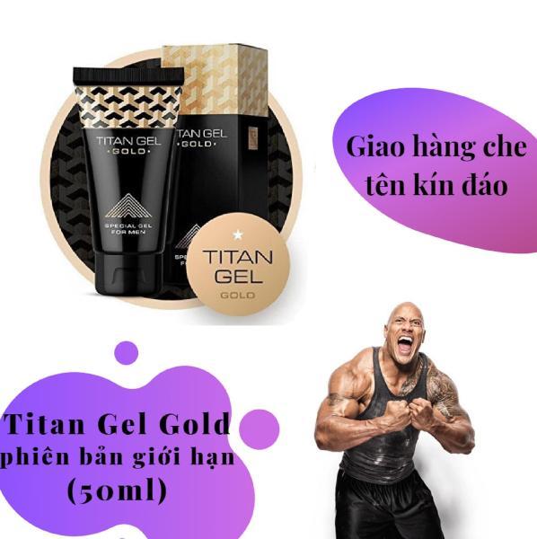 [ Lô mới nhất ] 1 hộp Gel-Titan-Nga Gold cao cấp phiên bản giới hạn (50ml) (Che tên khi giao hàng) nhập khẩu