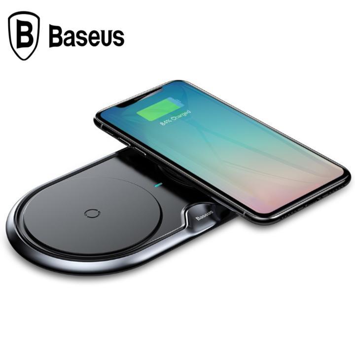 Đế sạc nhanh không dây Baseus WXXHJ-01 cho iPhone 8/ iPX /iP2018/ Samsung S8/ S9/ Note 8/9 (10W,Qi Wireless Quick Charger)