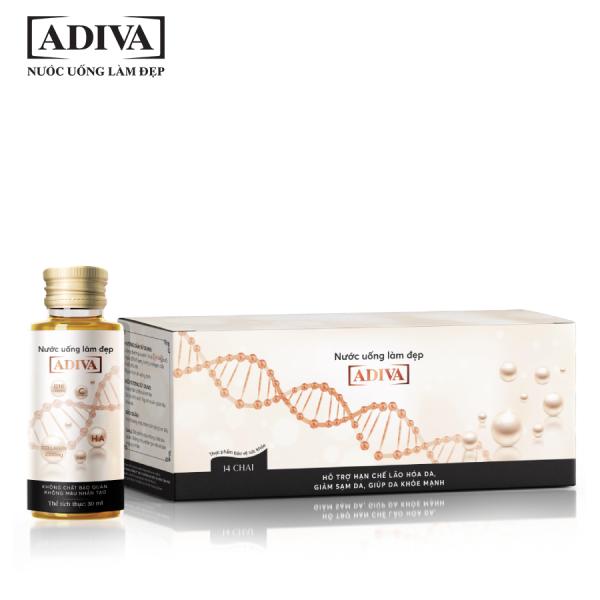 Collagen Adiva 14 lọ/hộp - Tặng 10 Mặt nạ Multi - Care Vitamin Mask trị giá 400k