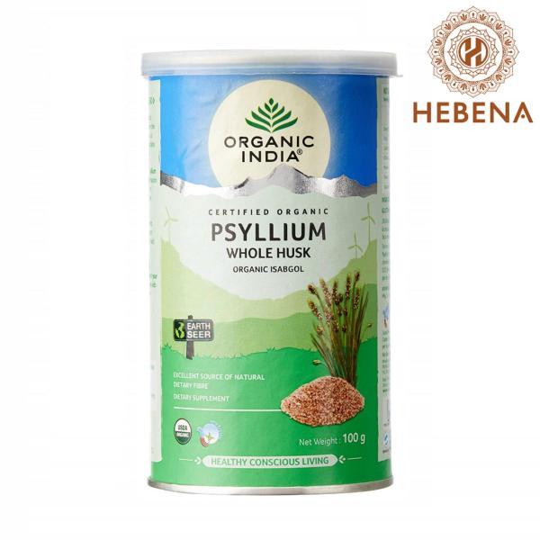 Vỏ hạt mã đề cung cấp chất xơ tự nhiên Organic India Organic Whole Husk Psyllium - hebenastore nhập khẩu