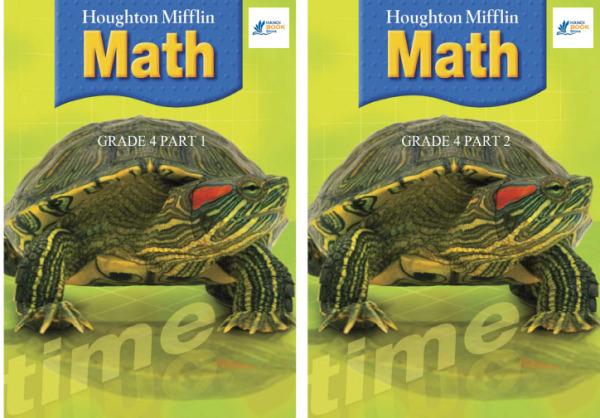 Houghton Mifflin Math (Grade 4 Part 1&2) Hanoi bookstore