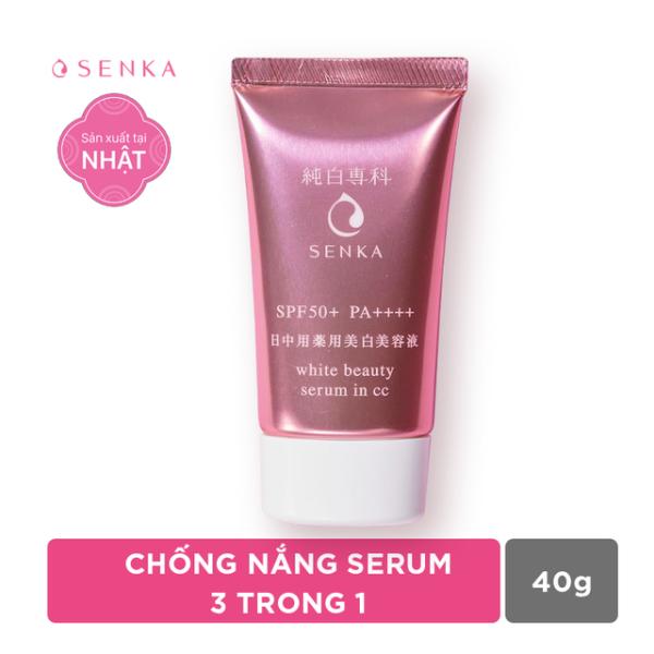 Chống nắng serum 3 trong 1 Senka White Beauty CC 40g