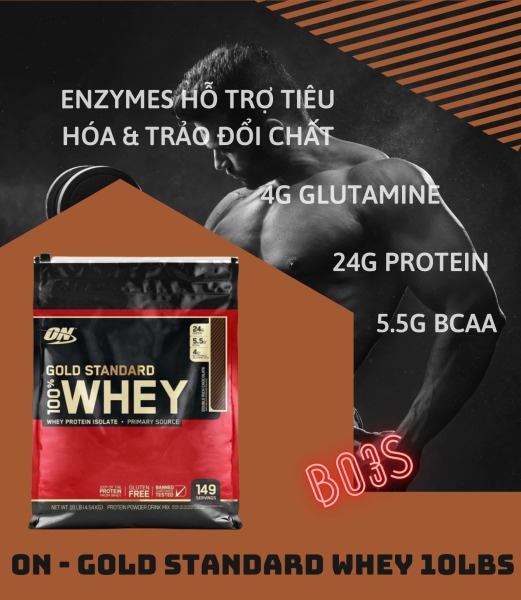ON - GOLD STADARD WHEY - WHEY PROTEIN 10LBS