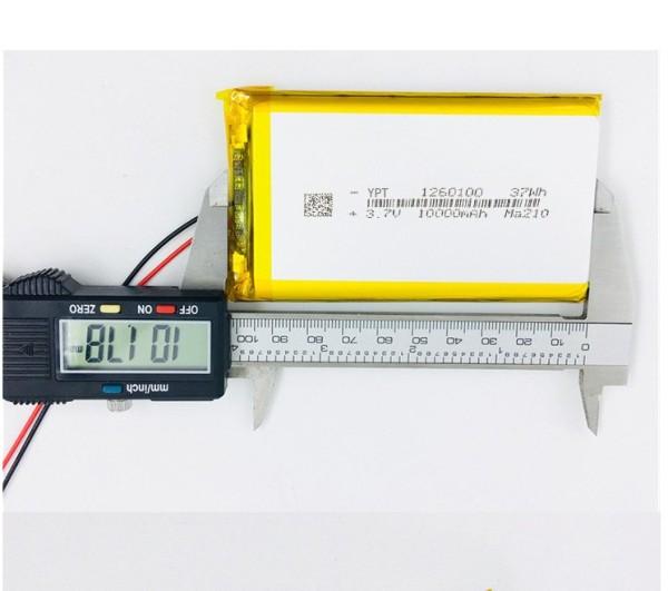 Pin Lithium - polymer 10000mAh 3.7V 1260100 mới - Có Kèm Mạch Bảo Vệ Pin