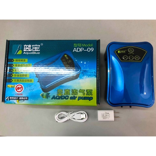 Máy Sủi Oxy Pin Aqua Blue Adp-09 (Hàng Công Ty)