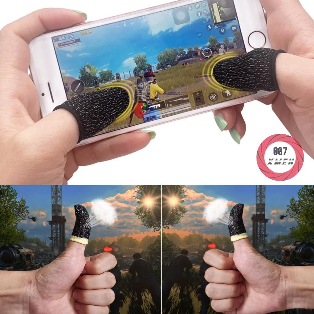 Bộ bao 2 ngón tay chuyên dụng chơi game mobile chống ra mồ hôi tay, chống mồ hôi tay triệt để nhờ khả năng thoát khí và chống loạn cảm ứng
