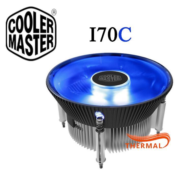 Quạt tản nhiệt cpu Cooler Master i70C [ThermalVN] - Led xanh, Quay êm, Quạt 1800 RPM