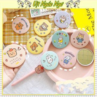 Gương - gương mini - guong trang diem - gương để bàn - gương trang điểm - gương cầm tay Gương mini -gương cầm tay văn phòng phẩm handmade thời trang Hàn Quốc vintage VPP22 thumbnail
