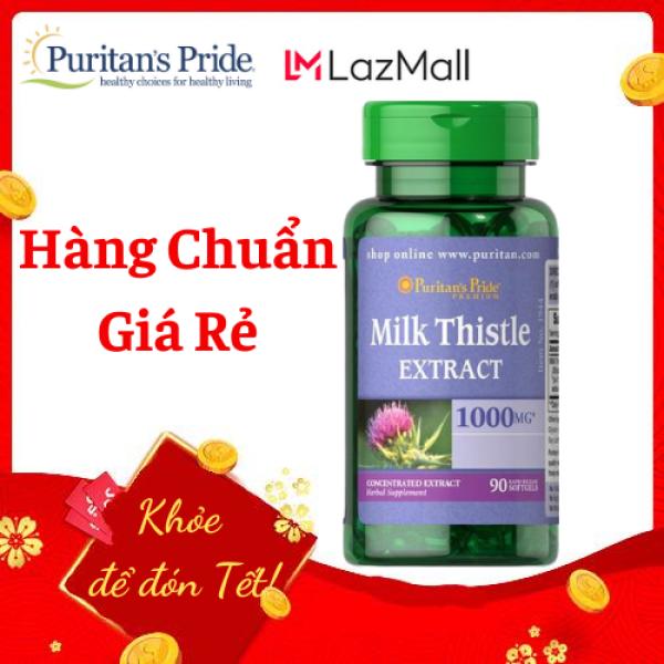 Viên uống bổ gan, giải độc gan (HSD: 30/05/2022), tăng cường chức năng gan Puritans Pride Milk Thistle Extract 1000mg 90 viên giá rẻ