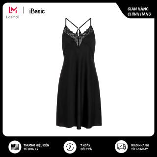 Đầm ngủ satin phối ren nhẹ nhàng quyến rũ iBasic SW038 thumbnail