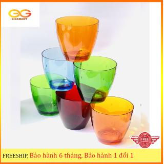 Bộ 6 ly ( cốc ) nhựa Acrylic cao cấp Song Long- Kiểu dáng hiện đại sang trọng- Trộn màu ngẫu nghiên thumbnail