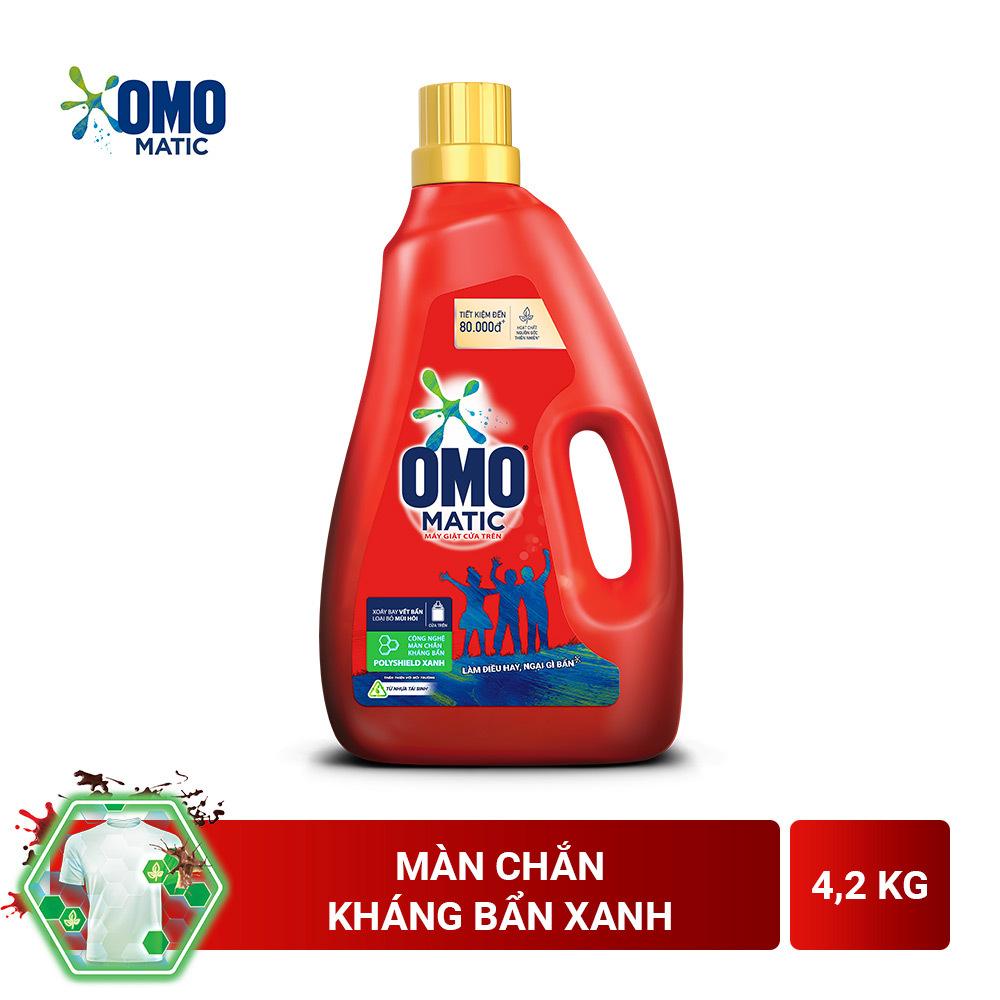 Nước giặt Omo cửa trên chai 4.2kg