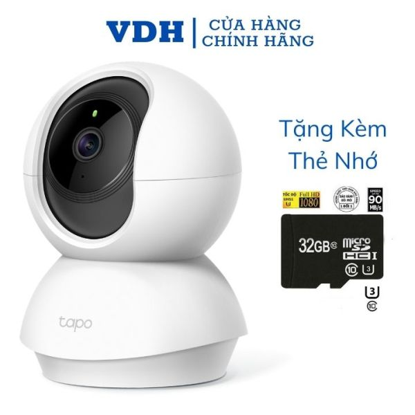 Camera wifi TP-Link full HD 1080P 360 độ Tapo C200, giám sát , an ninh TP link tặng thẻ nhớ 32G,VDH STORE