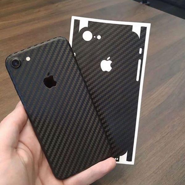 Tấm dán skin vân Carbon cho Iphone ip5 ip6 ip6s 6plus 7plus 8plus ip7 ipx ipxs ipxr xsmax ip11 11 pro max