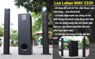 [MẪU MỚI 2021] Loa vi tính Lohao MAV 2235-loa Ti vi soundbar 2.1 âm thanh stereo rạp hát-Kết nối Bluetooth 5.0-2 loa vệ tinh kèm sub hơi 2 tấc - Công suất 100W - kèm remote .loa ti vi Soundbar âm thanh 3D - Có thể lắp ghép thành 1 loa dài.BH12T thumbnail