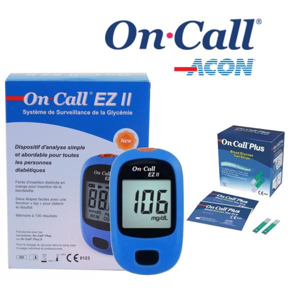 Máy đo đường huyết On Call EZ II TẶNG KÈM 25 Que thử bán chạy