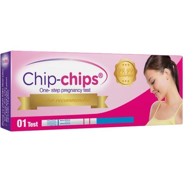 [Thu thập mã giảm thêm 30%] Que thử thai chip-chips( hộp 12 que) chất lượng đảm bảo an toàn đến sức khỏe người sử dụng cam kết hàng đúng mô tả