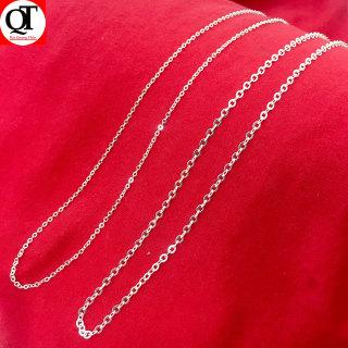Dây chuyền bạc nữ, vòng cổ bạc nữ mắt chữ O độ dài 48cm chất liệu bạc thật không xi mạ trang sức Bạc Quang Thản - QTVCNU1 thumbnail