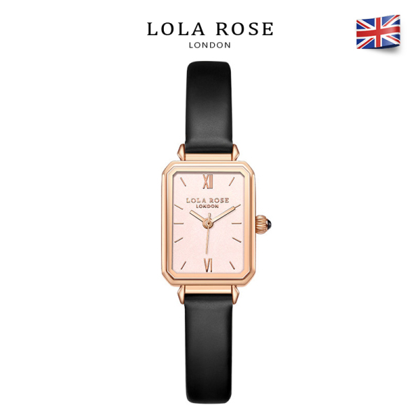Đồng hồ nữ dây da chính hãng Lolarose mặt màu hồng gold sang trọng tinh tế 22x27mm phù hợp với cô nàng trẻ trung năng động bảo hành 2 năm LR2134 đồng hồ nữ sang trọng bán chạy