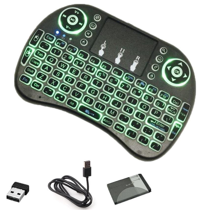 [HCM]Bàn phím kiêm chuột bay I8 FRO (Có đèn Led) dành cho Android TV box Smart TV Laptop( CÓ KÈM PIN SẠC 5C)