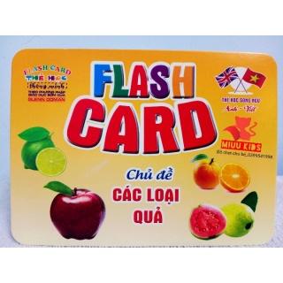 ( Size Lớn ) Thẻ Học Thông Minh Song Ngữ Anh Việt Chủ Đề Các Loại Qủa thumbnail