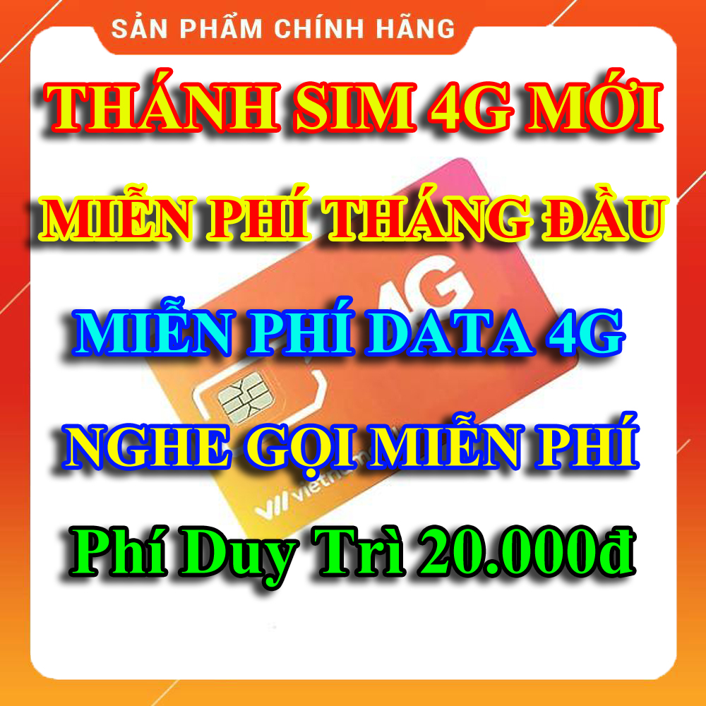 [HCM][FREESHIP][Độc Quyền] Thánh Sim 4G Mới Miễn Phí Data Không Giới Hạn Miễn Phí Tháng Đầu Tiên Phí Duy Trì Chỉ 20K Miễn Phí Gọi Nội Mạng - Shop Lotus Sim Giá Rẻ