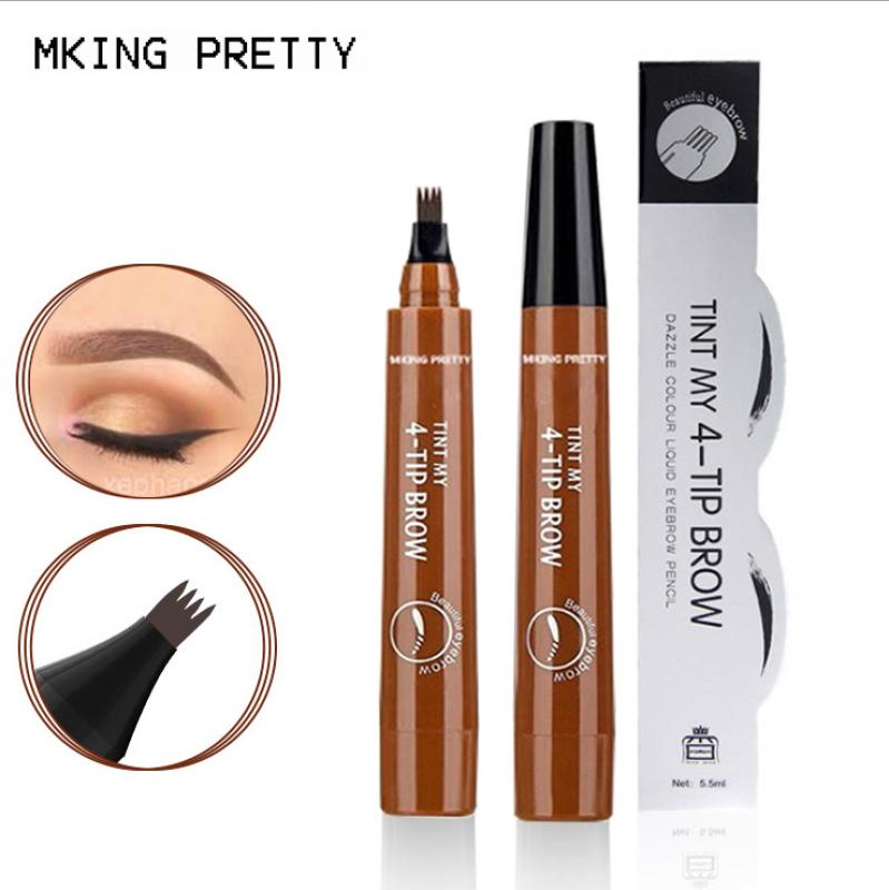 Bút chì kẻ lông mày phẩy sợi 4D MKING PRETTY chống nước lâu trôi dụng cụ trang điểm makeup chuyên nghiệp TM-EP044