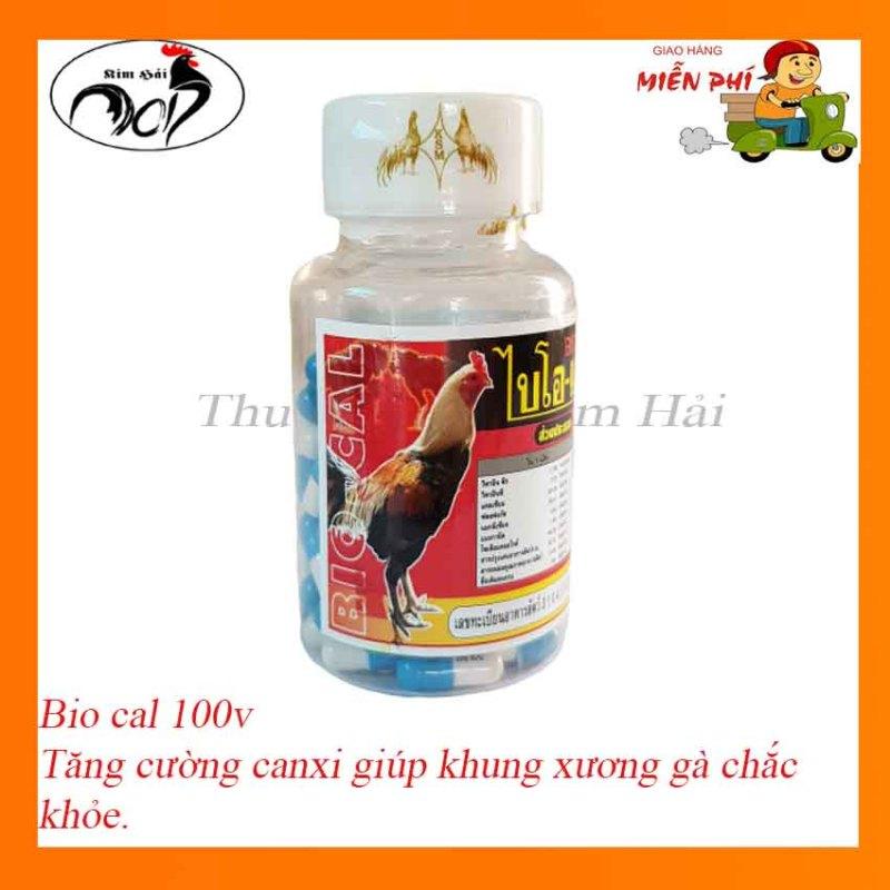 Thuoc ga da BiO Cal Thái Lan [lọ 100 viên] bồi bổ gân gối,xương khớp hiệu quả,phục hồi cơ gân gà đá.
