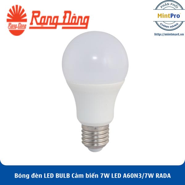 Bóng đèn LED BULB Cảm biến 7W LED A60N3/7W RADA Rạng Đông - Hàng Chính Hãng