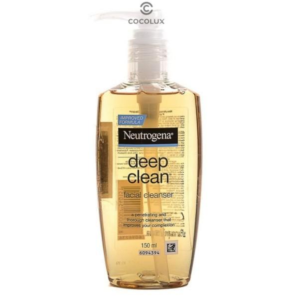 [CoCoLux] Sữa Rửa Mặt Neutrogena Làm Sạch Sâu Dạng Gel Facial Cleanser Deep Clean giá rẻ