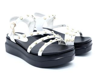 Giày sandal nữ Kanglong màu trắng 282227214 - Giày sandal nữ thời trang cao cấp da bò thumbnail