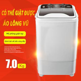 Máy giặt 7kg bán tự động màu xám nắp đen máy giặt 1 lồng cửa trên TopOne2020 thumbnail