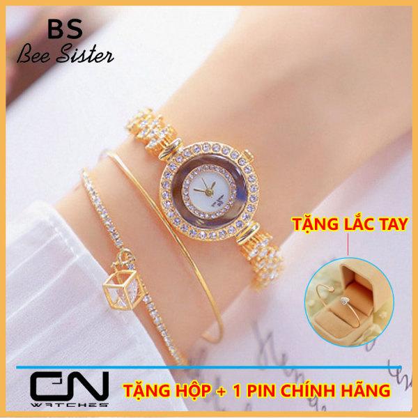 Đồng hồ lắc tay nữ - Bs Bee Sister 1517chính hãng - mặt nhỏ xinh đính đá cao cấp chống nước tốt bán chạy