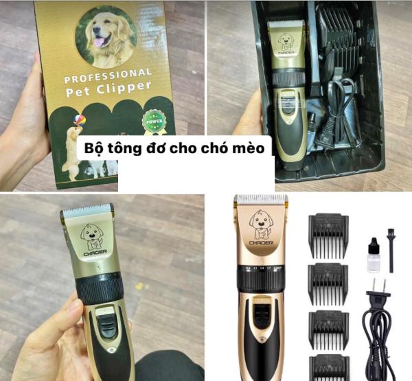 Tông đơ cắt lông chuyên dụng cho chó mèo THÚ CƯNG CHAOER FULL BỘ